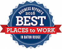 2016 - Best Places To Work in Baton Rouge